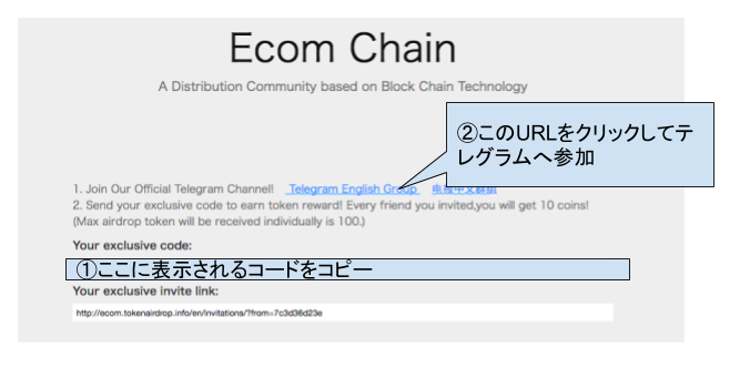 『Ecom Chain』AirDrop参加方法